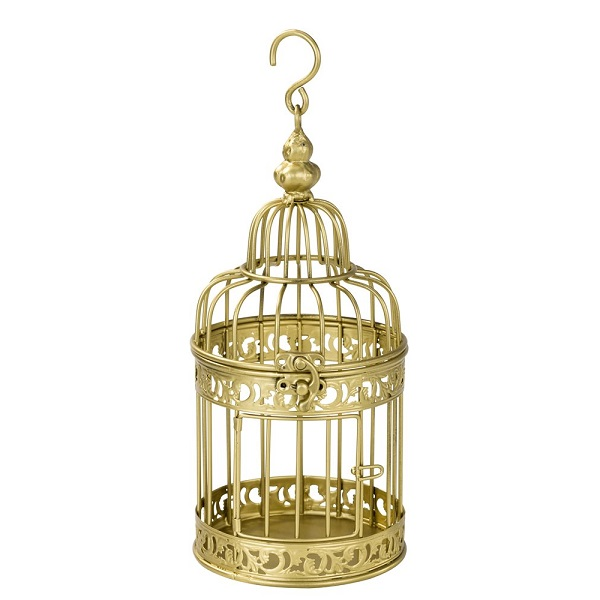 Gaiola Decorativa Dourada