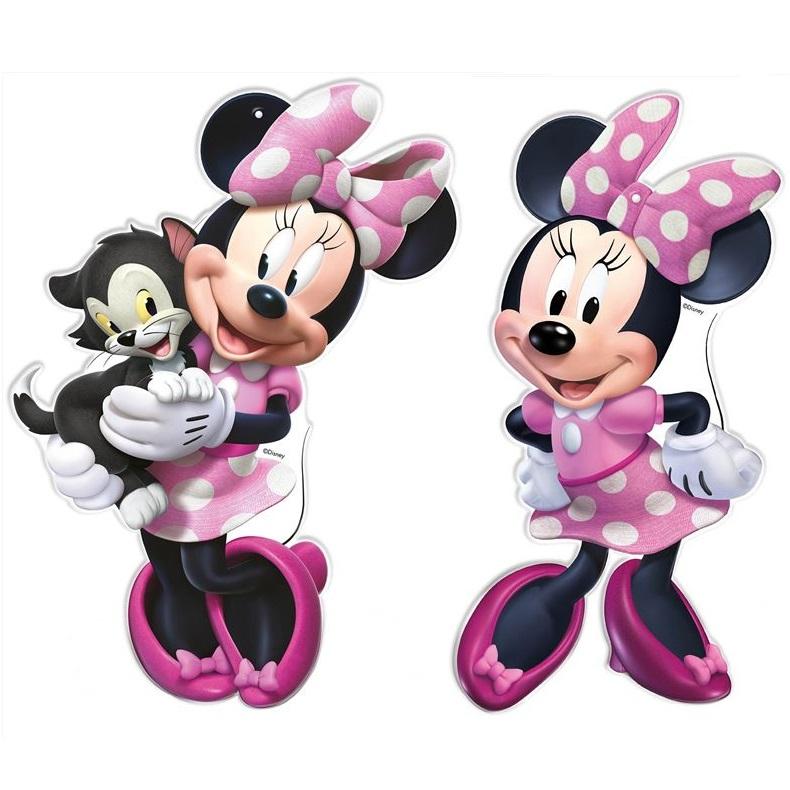 Conj. 2 Figuras Minnie Rosa