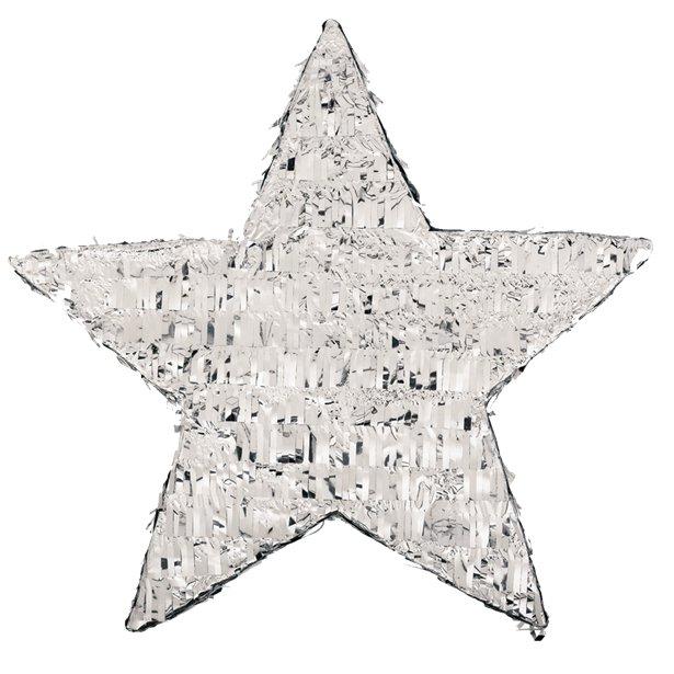 Pinhata 3D Estrela Prateada