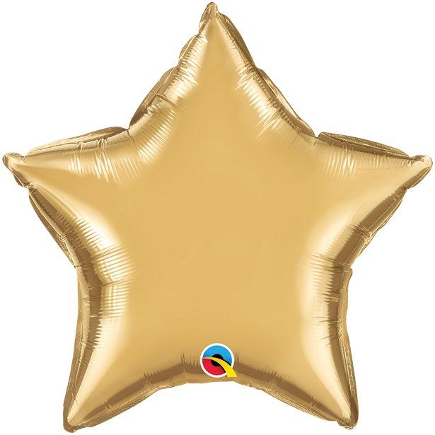 Balão Estrela Dourado Cromado