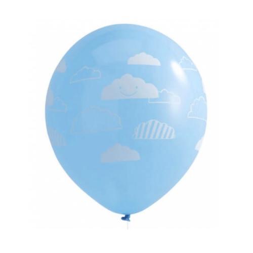 Conj. 10 Balões Nuvens Aviões Flying High