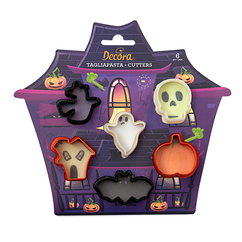 Conj. 6 Mini Cortadores Halloween