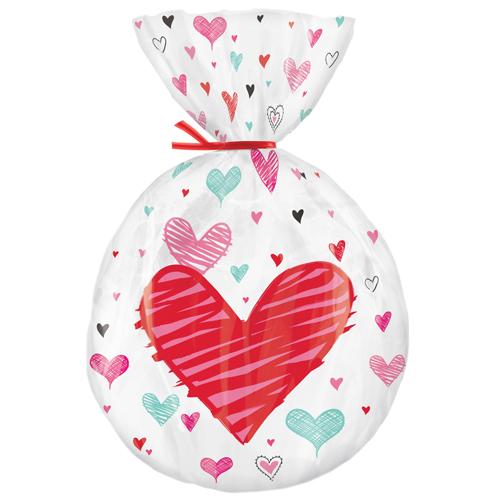 Conj. 15 Sacos Coração
