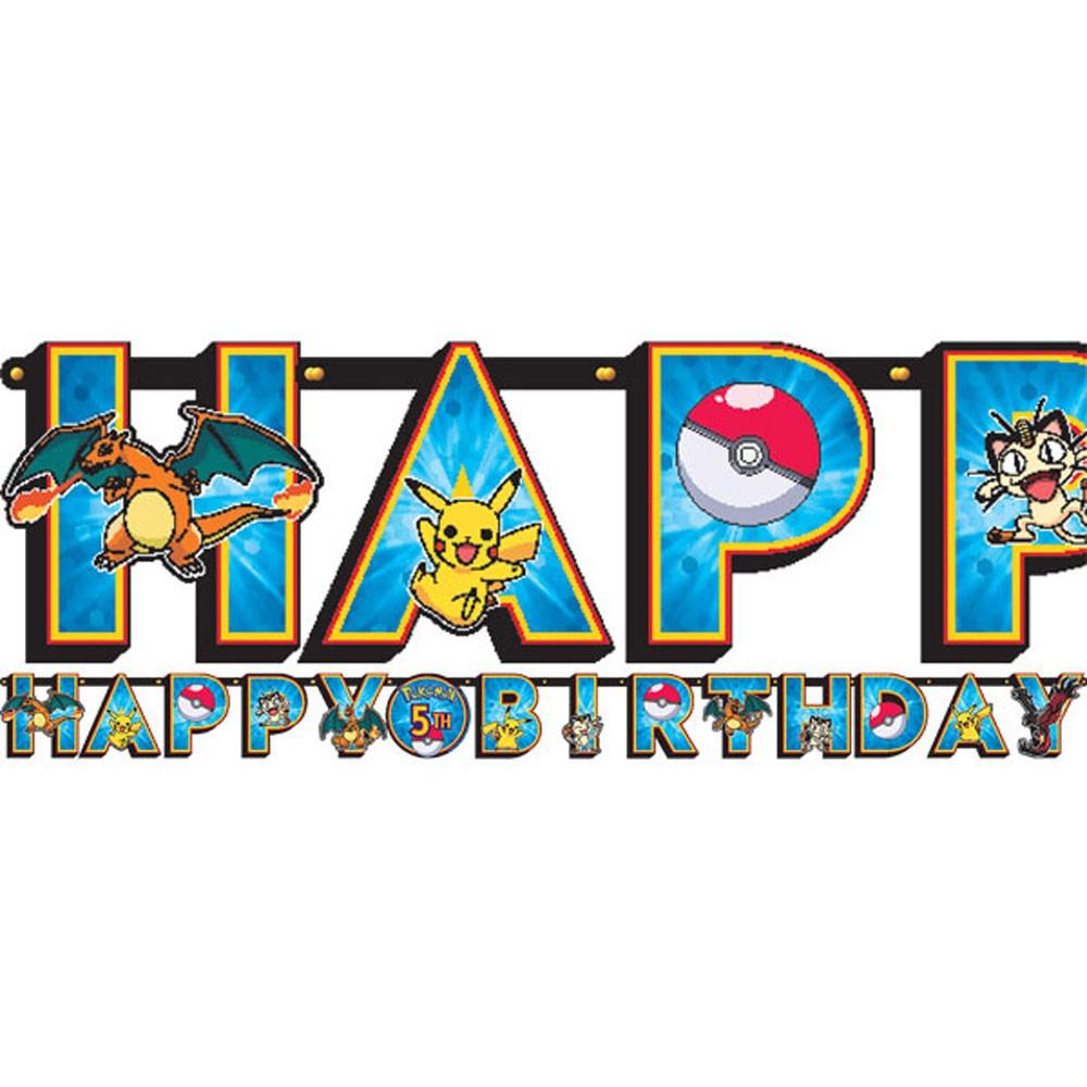Grinalda Happy Birthday Gigante Pokémon