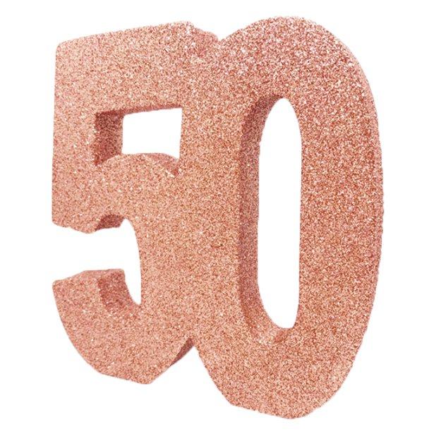 Decoração 50 Glitter Rose Gold