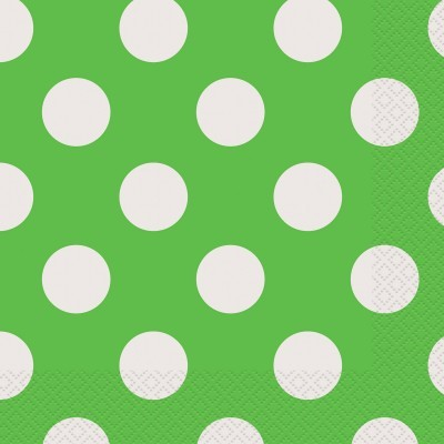 Guardanapos Verde Bolas