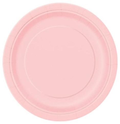 Pratos Rosa Claro Grandes
