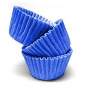 Conj. 100 Mini Forminhas Azul Escuro