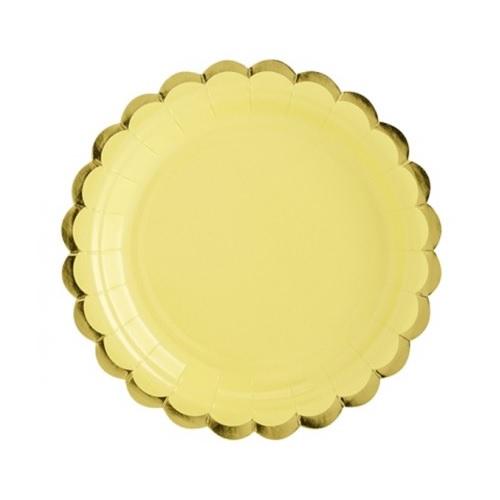 Pratos Amarelo e Dourado