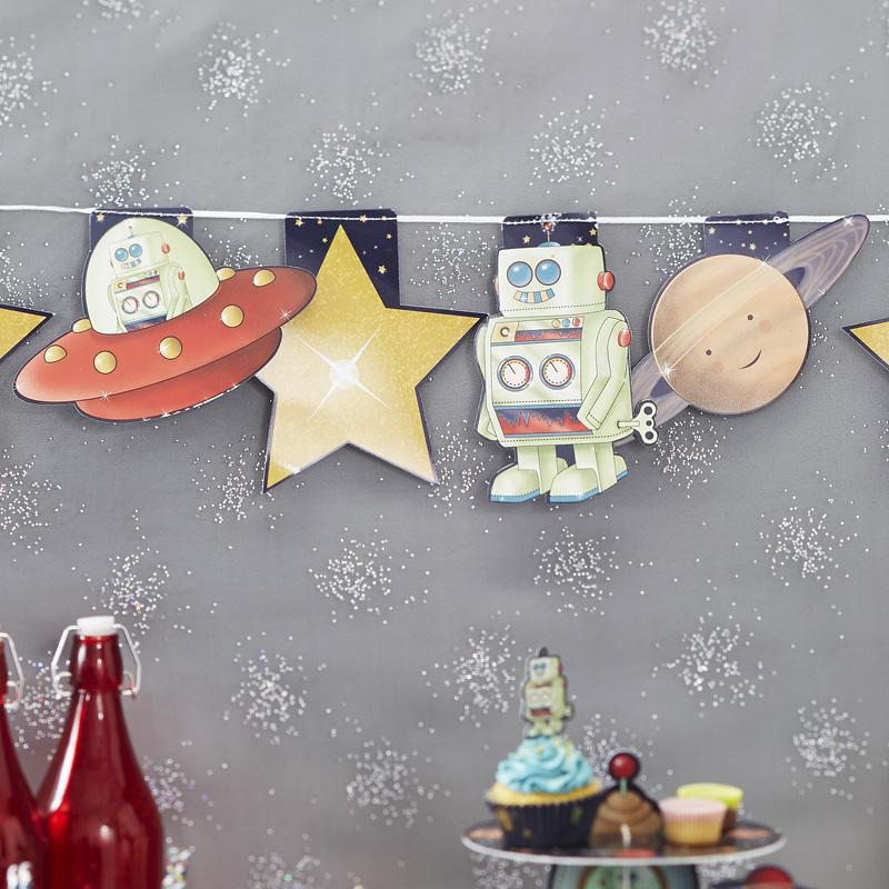 Bandeirolas Espaço e Astronautas