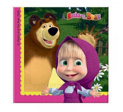 Guardanapos Masha e Urso