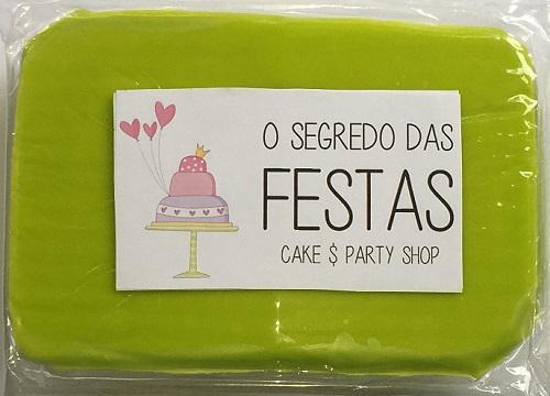 Pasta de Açúcar Verde Fluorescente