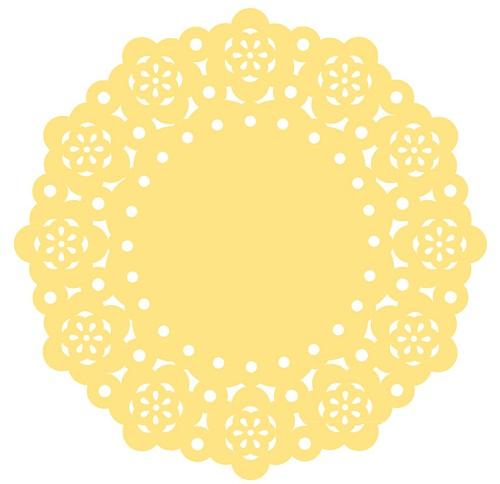 Mini Naperons Amarelo
