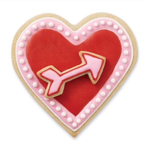 Conj. 2 Cortadores Coração + Seta