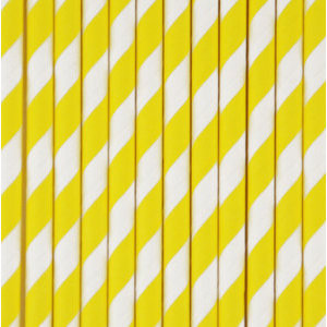 Palhinhas Amarelo Riscas -  Conj. 10