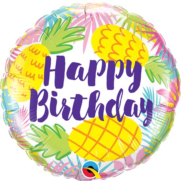 Ananás Balão Happy Birthday
