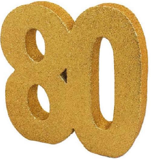 Decoração 80 Glitter Dourado