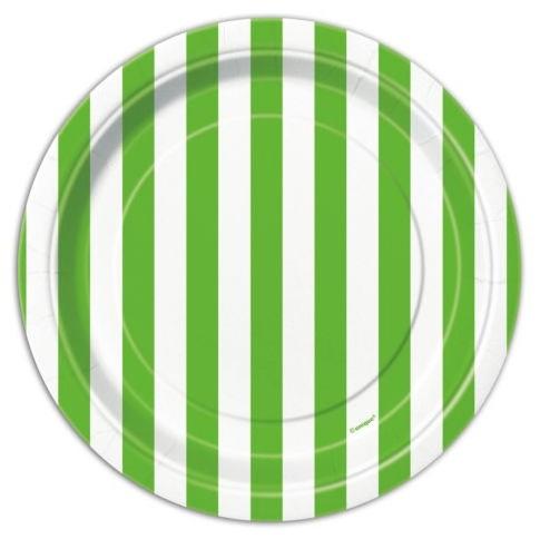 Pratos Verde Riscas Pequenos