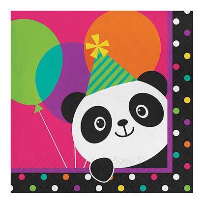 Guardanapos Panda Colorido