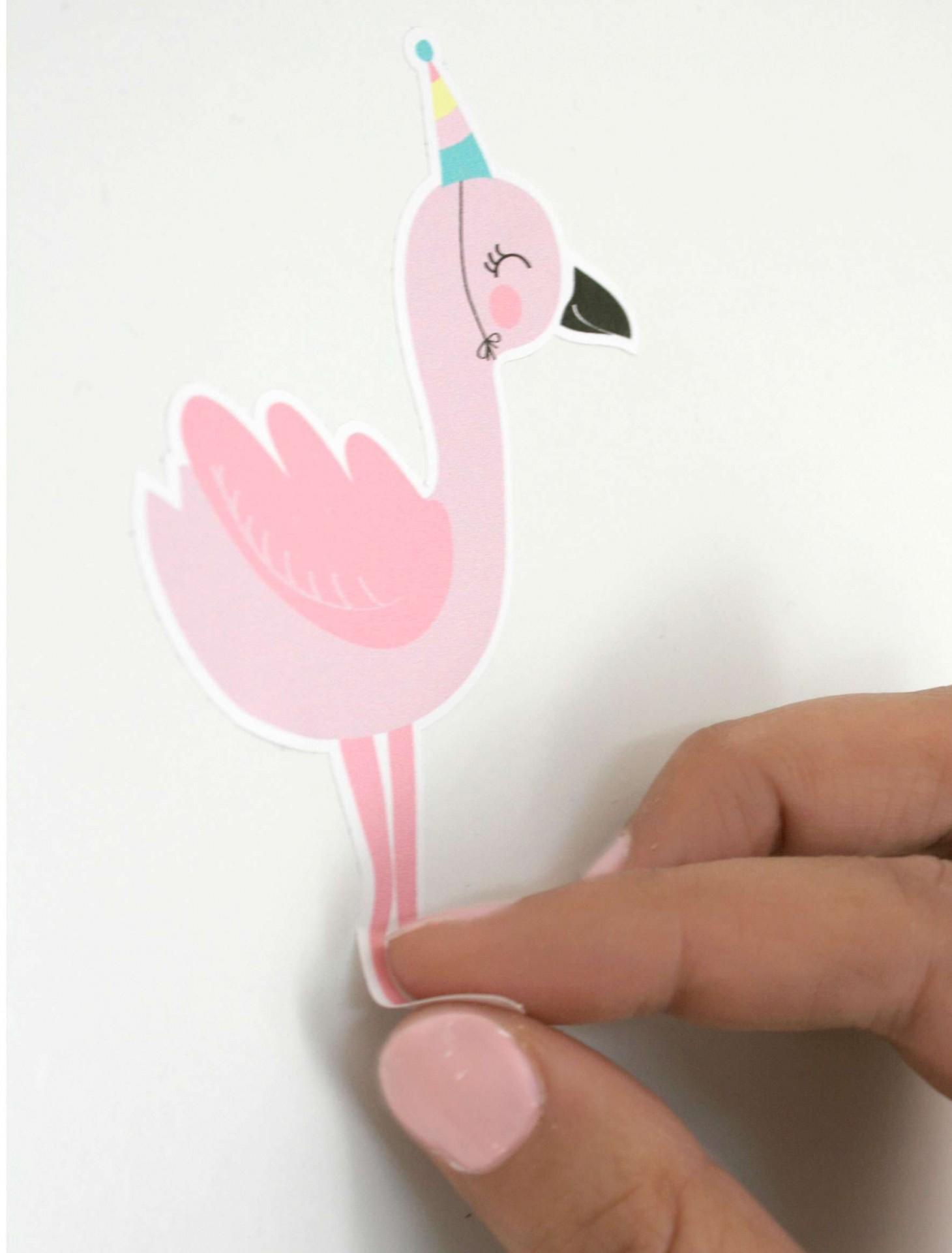 Autocolantes Parede Flamingos