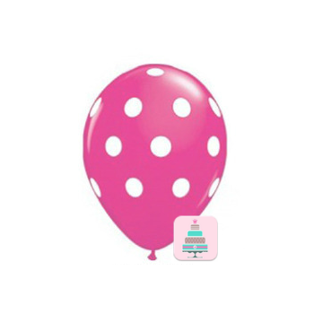 Conj. 10 Balões Bolinhas Fuchsia