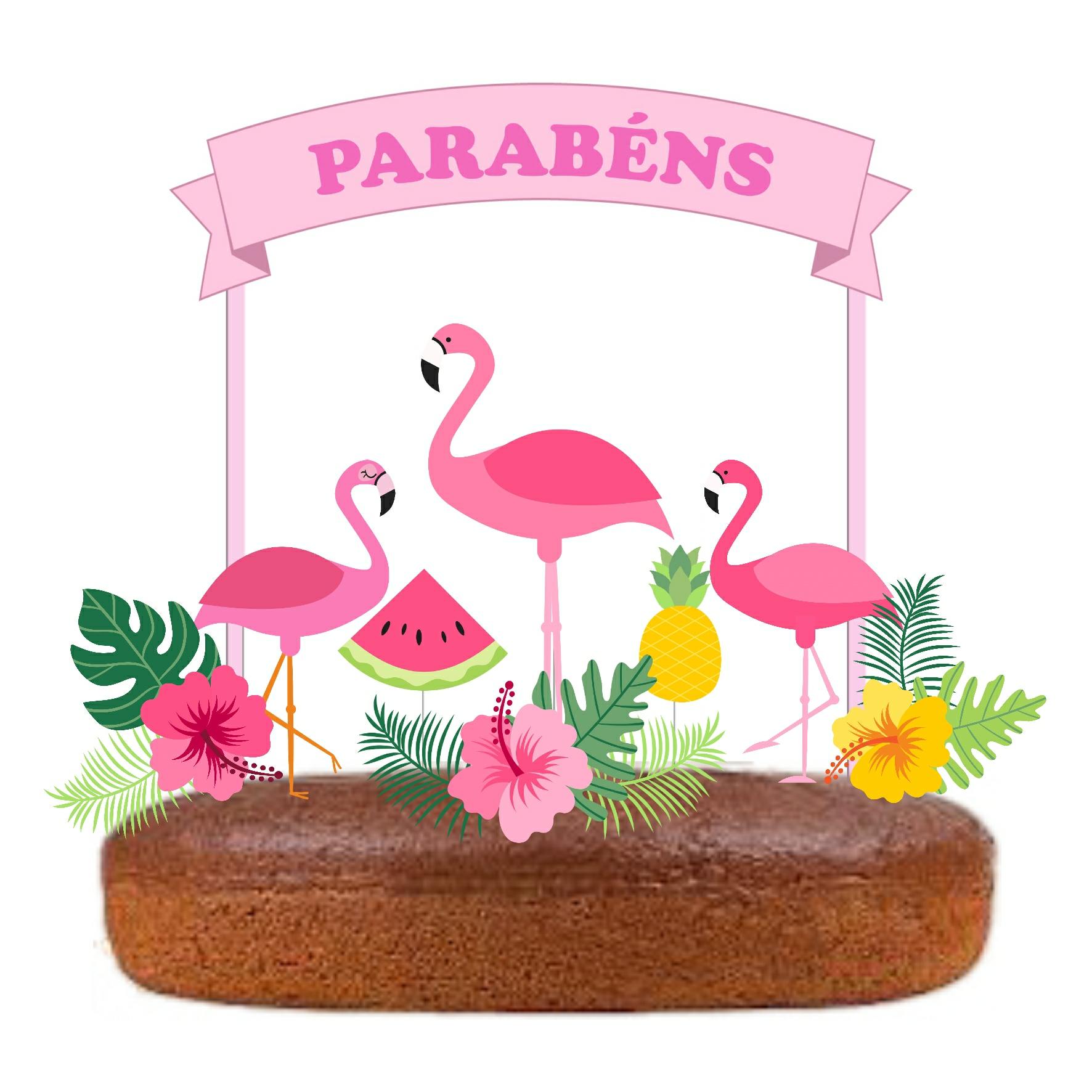 Topo Bolo Flamingo