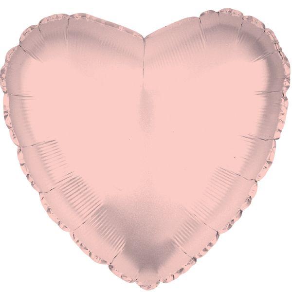 Balão Coração Rose Gold