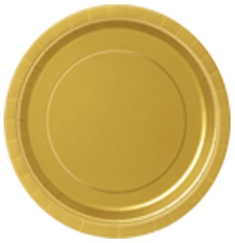 Pratos Dourado Pequenos