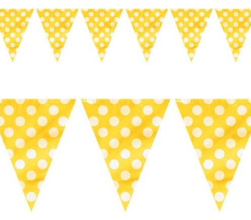 Bandeirolas Amarelo Bolas
