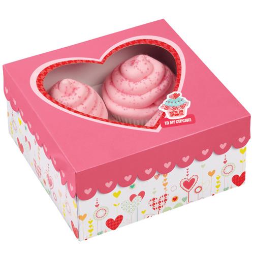 Conj. 3 Caixas Coração Rosa
