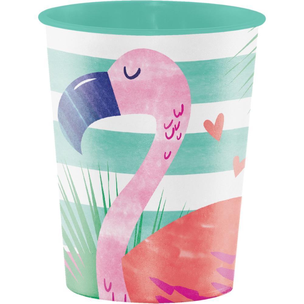 Copo Plástico Flamingo Rosa