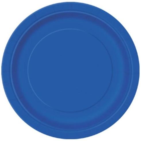 Pratos Azul Escuro Grandes