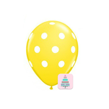 Conj. 10 Balões Bolinhas Amarelos