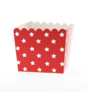 Caixinha Vermelho Estrelas Brancas