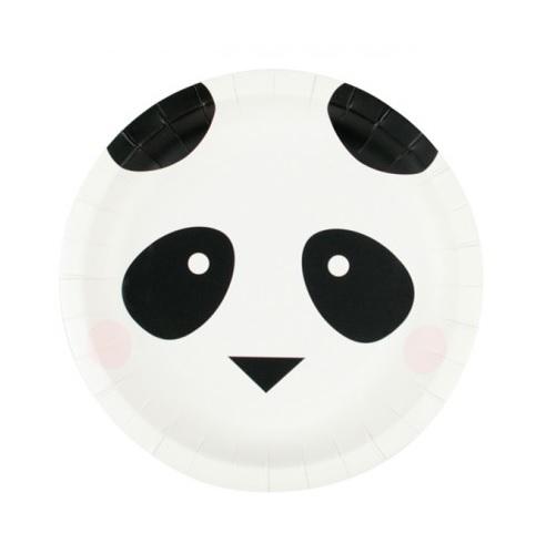 Conj. 8 Pratos Panda Pequenos