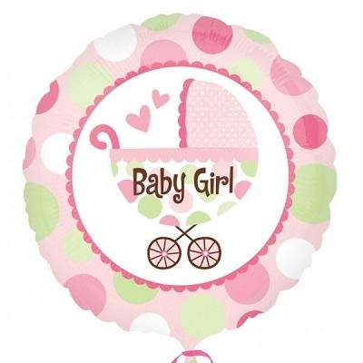 Carrinho Bebé Menina Balão Médio