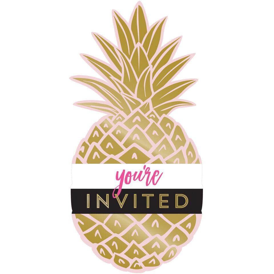 Convites Ananás Dourado