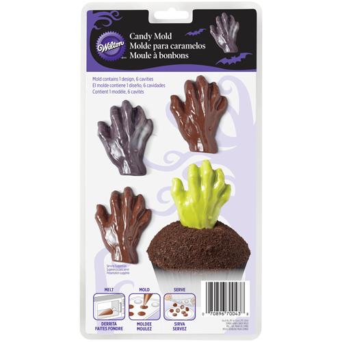 Molde Chocolate Mãos Zombie