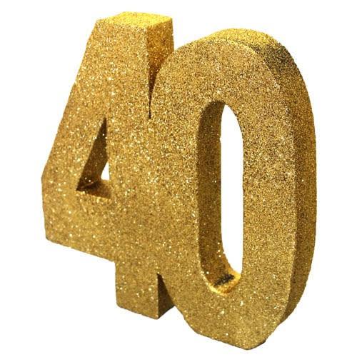 Decoração 40 Glitter Dourado