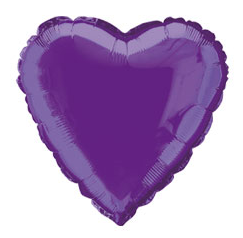 Balão Coração Roxo