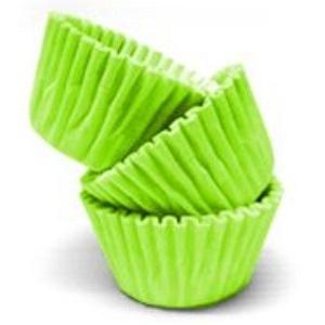Conj. 100 Mini Forminhas Verde Claro
