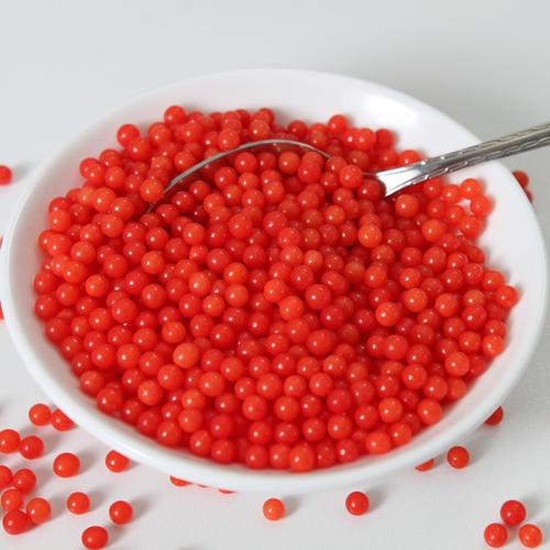 Pérolas Vermelho Brilhante