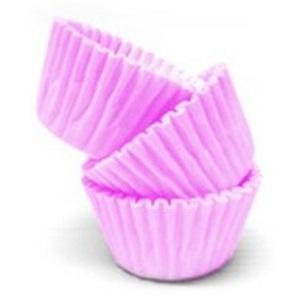 Conj. 100 Mini Forminhas Rosa Claro