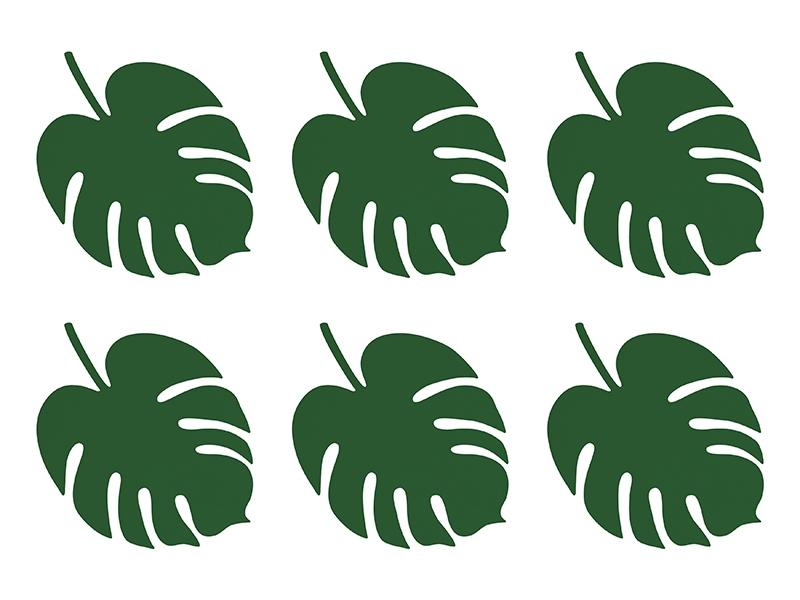 Cartões Marcadores Folha Tropical