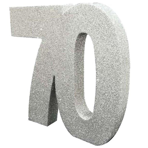 Decoração 70 Glitter Prateado