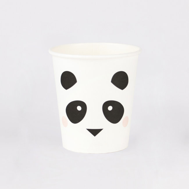 Conj. 8 Copos Panda Pequenos