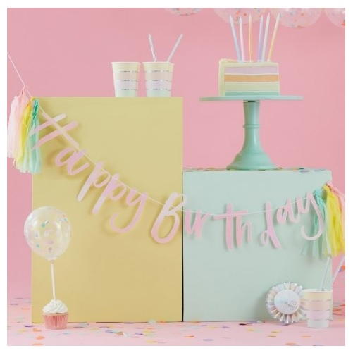 Grinalda Happy Birthday Tassel Pastel