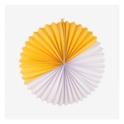 Bola Papel Branca e Amarela