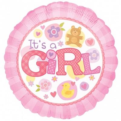 Bebé Menina Balão Médio