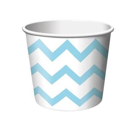 Taças de Gelado Azul ZigZag